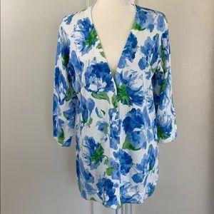 Isaac Mizrahi Live! Floral cardigan sweater